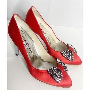 stuart weitzman for bianca las vegas heels red 6.5